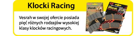 vesrah klocki hamulcowe racing